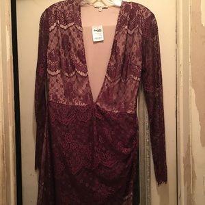 Charlotte Russe Burgundy Lace Dress